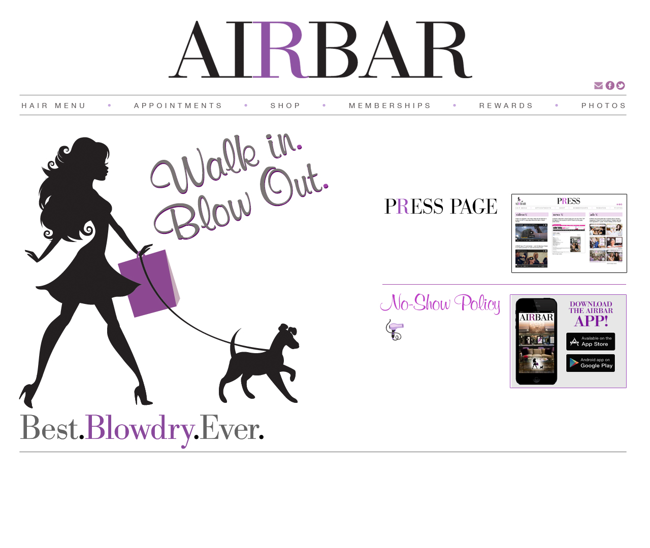 AIRBAR. Walk in. Blow out.